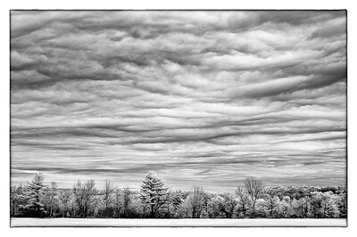 Waldoboro Maine storm clouds Infrared
