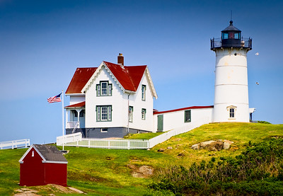 Nubble Light at Cape Neddick near York, Maine