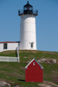 At Nubble Lighthouse, Cape Neddick, near entrance to York River; Nearest town: York, Maine