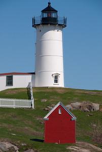At Nubble Lighthouse, Cape Neddick, near entrance to York River; Nearest town: York, Maine