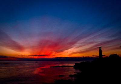 Sunrise at Portland Head Lighthouse - Cape Elizabeth, Maine