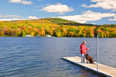 Best Friends at the Dock Lake Iroquois, Williston, VT