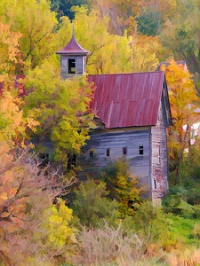 Old Barn on Metcalf Pond Rd North Cambridge, VT