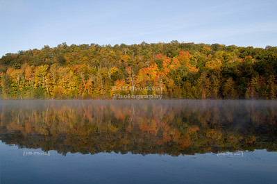 Fall reflections at Monksville Reservoir, Hewitt, NJ, USA