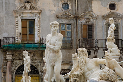 Fontana Pretoria (Fountain of Shame) Palermo, Sicily