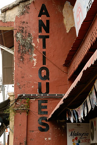 Sign on antique shop-Street Scene-Melaka-Malacca Town-Malaysia