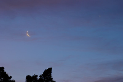 The Moon and Venus in a nice conjuction.