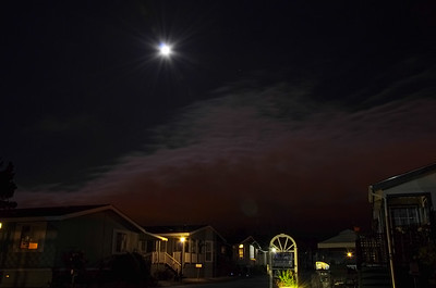 Oddly colored clouds at about 10:30 PM.