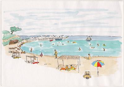 Makryammos Beach, Thasos, 1997-06-25