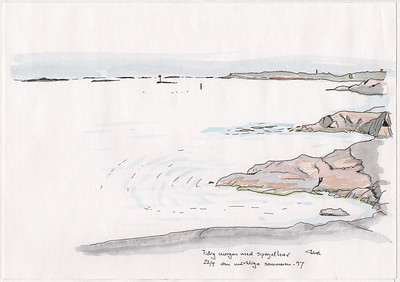 Early morning, and the sea is like a mirror, Gåsholmen, Pellinge, 1994-07-22