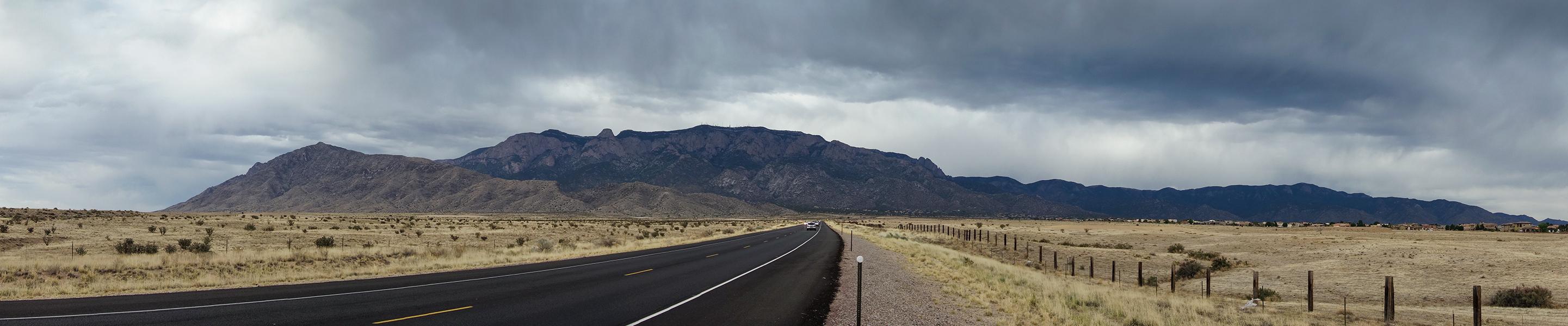 Approaching the Sandia Mountains, Albuquerque