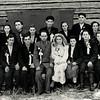 391. Українське весілля на засланні, крайній справа заліщанин Іван Собашко.