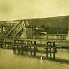 533. Підірваний дорожній міст через Дністер. Липень 1915 р.