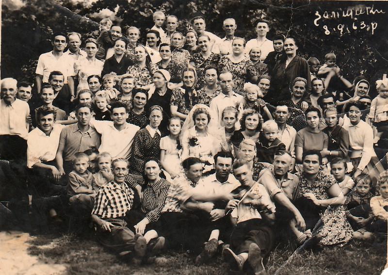 438. Весілля на старих Заліщиках, 1963 рік.