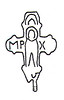 69. Давньоруський хрестик-енколпіон, знайдений у Заліщиках.
