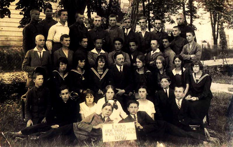 721. Перший курс учительської семінарії в Заліщиках, липень 1926 року
