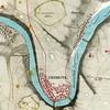 287. Карта Заліщиків із позначеннями укріплень 1854 р