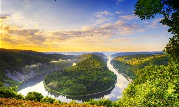 14. Ландшафт, утворений мільйон років тому.