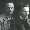 510. Михайло Гаврилко (зліва) і Михайло Струтинський в Заліщиках, 1912 р.