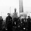 501.  Пам'ятники вождям минулих часів в Заліщиках - Пілсудський . ( на тому ж місці пізніше буде встановлено пам'ятник Леніну)
