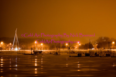 RedWing_BayPoint.jpg  Standing on Levee Road just west of Bay Point Park, the famous Tepee statue is lit up in the night.