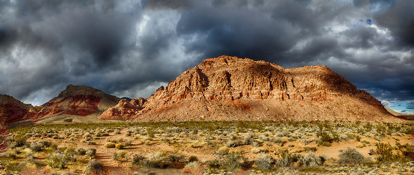 Storm over Red Rock