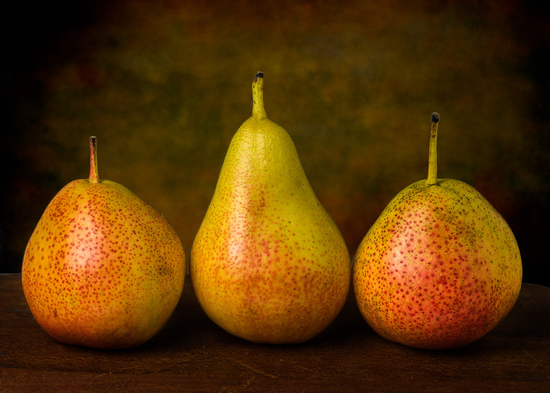 Three Forelle pears