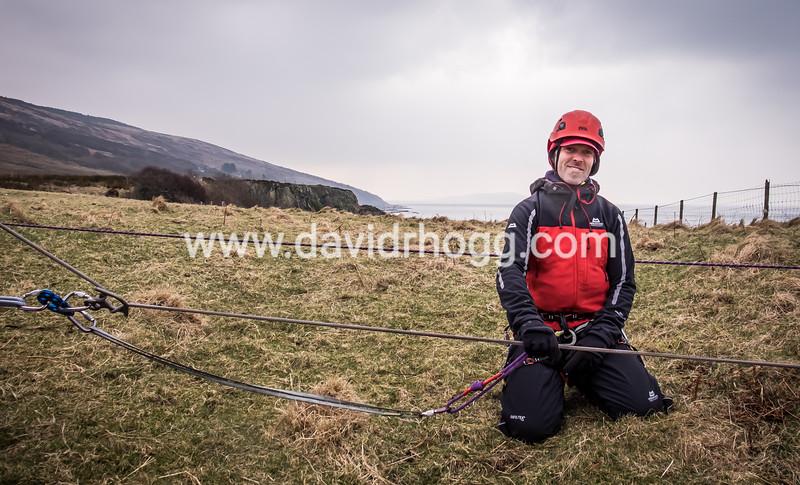 Prusik man for a rope lower.  #arranmrt #mountainrescue #arran (Twitter: @arranmrt)