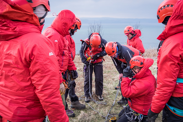 Rope training today with #arranmrt #mountainrescue #arran #isleofarran.  (More photos soon on arranmrt FB page).