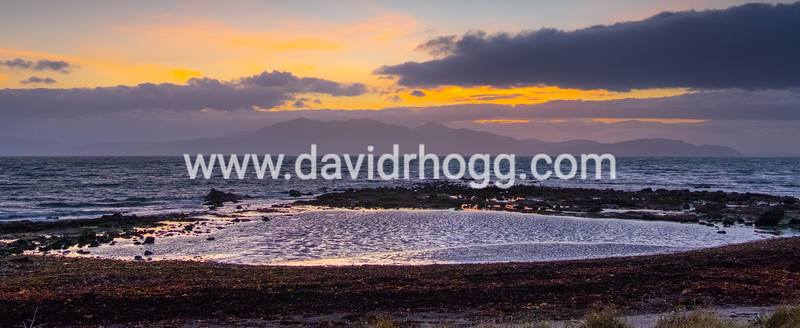 Looking over to Arran from Seamill last night.  Stunning yellows and blues on show.