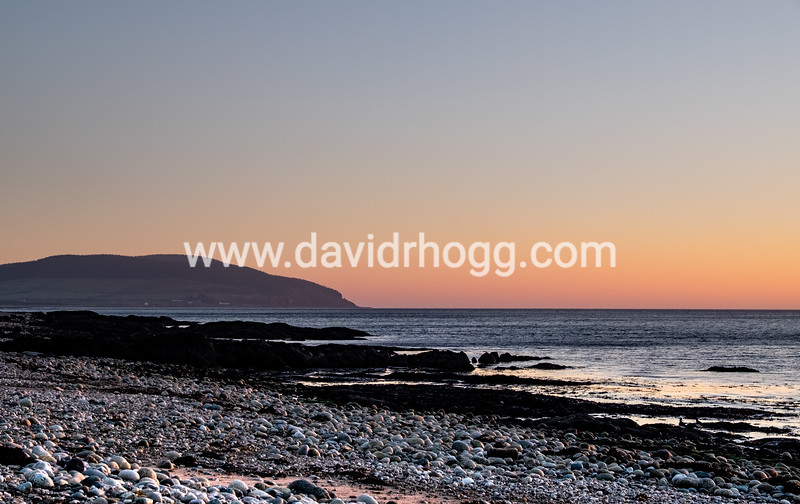 Stunning sunset and pastel colours in the sky over at Machrie today.
