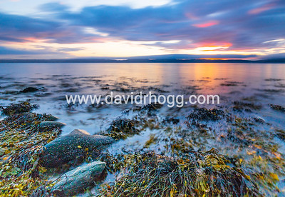 #sunset on Monday, from #Catacol beach to #Kintyre.