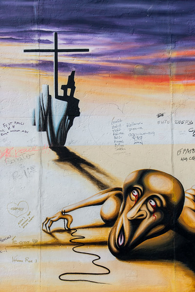 East Side Gallery - artistic expression on what is left of the wall