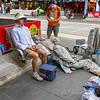 Street Performers Prepare