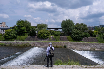 Man at Duck River, Kyoto 2019.