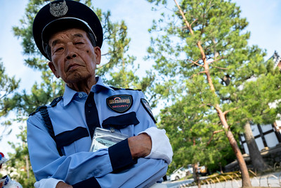 Temple security guard, Kyoto 2019.