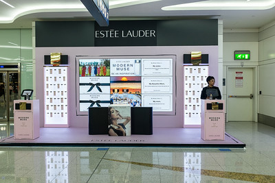 Modern muse, Dubai airport, May 2014