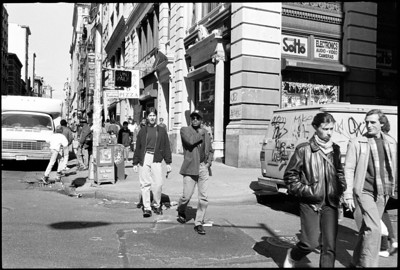Lower Broadway, New York City, 1989.
