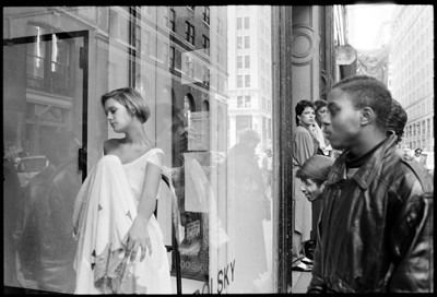 Human window mannequin, Soho, New York City, 1988.