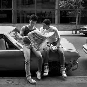 Two friends, New York City, 1988.