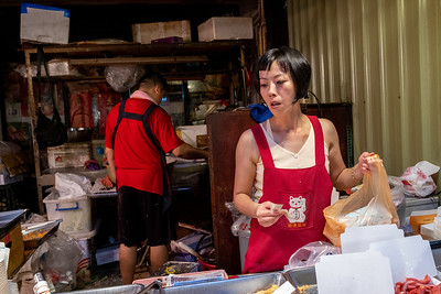 Street market vendors, Taipei 2019.