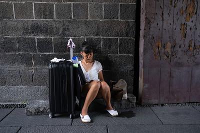 Woman seated, Taipei 2019.