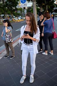 Woman in white, Taipei 2019.