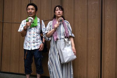 Couple taking a break, Fushimi Inari-taisha, Kyoto 2019.