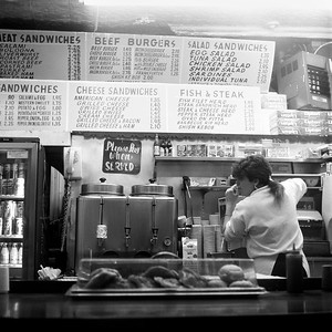 Lunch counter, New York City, 1987.