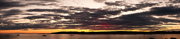 Early fall sunset at Kettle Cove in Cape Elizabeth, Maine.