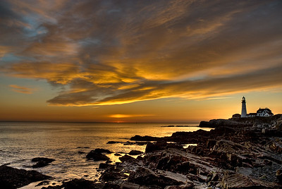 November sunrise at Portland Head Lighthouse in Cape Elizabeth, Maine