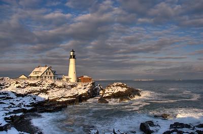 The last sunset of 2007 - Portland Head Lighthouse - Cape Elizabeth-Maine