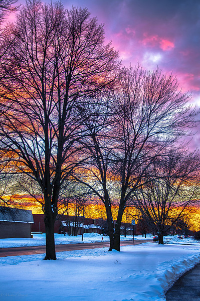 Sunset 12-16-13 north of Chicago. I shot this image on a cold December afternoon. I really like the pinks and purples from this sunset.