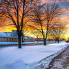 Sunset 1-3-14 north of Chicago. I shot this image on a cold JANUARY afternoon.